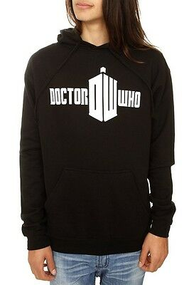 Black & White Doctor Who Logo Pullover Hoodie XL New - Doctor Who Hoodie