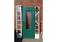 External door and side panels
