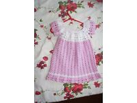 Handmade crochet dress for girls 12-18m