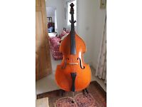 Stentor conservatoire Double Bass 3/4 full carved Ebony fingerboard