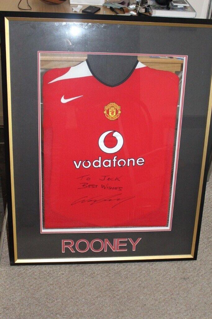 affc9d098 Signed Wayne Rooney Shirt. MUFC 2004 06. Two Signatures