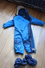Spotty Otter padded waterproof all in one suit age 1-2 with Bush Baby booties