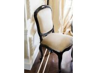 Set of 4 cream dining chairs - Quick Sale