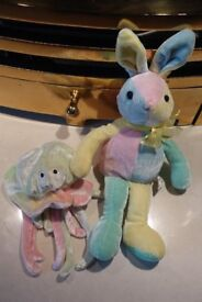 Multi coloured 'beanie type' soft toys
