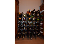 strong wine rack can hold 42 bottles