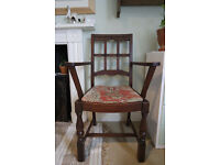 Vintage Medieval-Style Wooden Chair