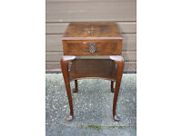 Antique bedside table / side / end table / lamp table, ideal shabby chic / restoration project!!!