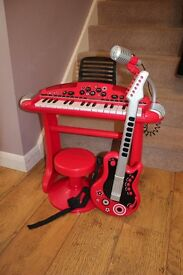 ELC Electric keyboard and superstar guitar - Red