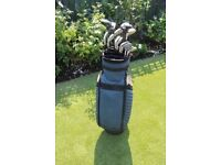 Hippo golf clubs and Hippo golf bag. Good clubs well used and liked. Suit someone starting out.