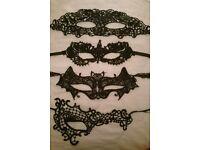 Lace Masquerade masks x4