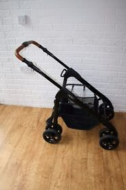 Silver Cross Linear Special Edition Country pram FRAME black with brown leather CAN POST