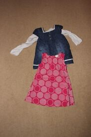 2 girls dresses age 6 - 9 months