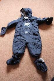 Baby Boy Snowsuit – Size 9 – 12 Months