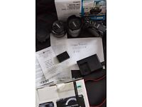 Canon EOS M3 + adapter + 50mm f1.8 ef Lens extras