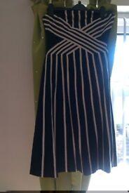 COAST Dress black and cream size 12