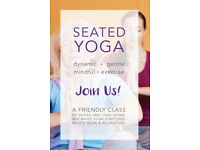 SEATED YOGA CLASSES - MONDAYS 6.15PM - 7.15PM - £7 - WALLISDOWN