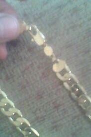 Mens gold chain 18k