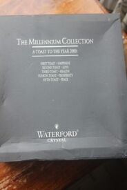 Waterford Crystal - The Millennium Collection - A toast to the year 2000 & box