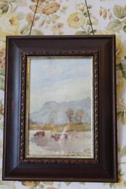 Pair of late 19th century signed watercolour paintings