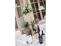 For Hire Crystal Wedding table centre pieces. Fish bowls, Martini Glasses. Cardiff Area Only