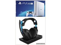 PS4 pro and Astro a50 gen 3 headset
