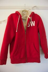Jack Wills Ski Varsity fleece lined zip up hoodie