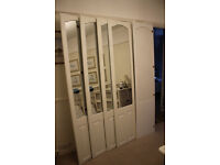 5 wardrobe doors - white melamine with mirrors by Sharps