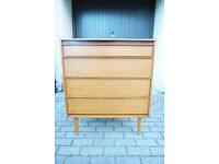 Lovely Mid Century / Retro Teak chest of Drawers FREE DELIVERY CENTRAL EDINBURGH