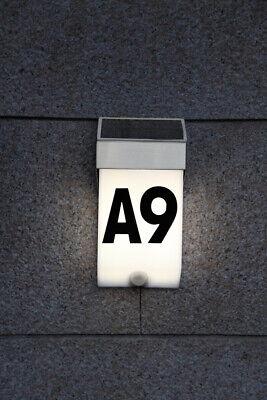 Solar Hausnummer mit LED leuchte Edelstahl mit Bewegungsmelder 24a 1.2-35109