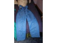 Men's salopettes, chest size 36, 91cm