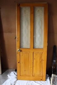 Internal Pine glazed door