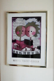 Beautiful framed Rosina Wachtmeister poster