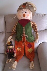 Ornamental garden scarecrow