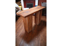 Solid Acacia hardwood console table