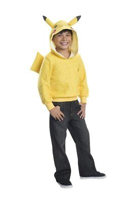 Boys Child POKEMON PIKACHU Hoodie with attached Tail