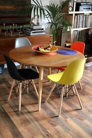 5 COLOURFUL DINNING CHAIRS DSW IN STYLE OF E AME S