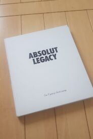 ABSOLUT LEGACY rare book ABSOLUT VODKA