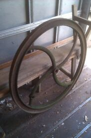 Old Iron wheel ornament vintage garden