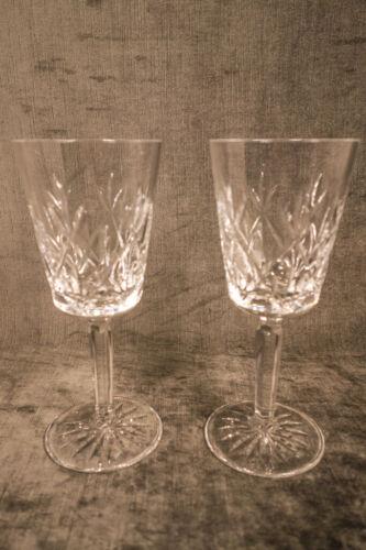 "Vintage Tiffany ""Sybil"" Crystal White Wine Glass Pair"