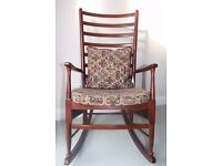Mahogany Rocking Chair in excellent condition.