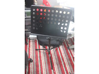 unused - NJS Music stand (heavy duty) - RRP £20 - cost £10