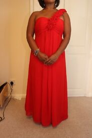 Beautiful red maxi dress - £15 - only been worn once. UK 10