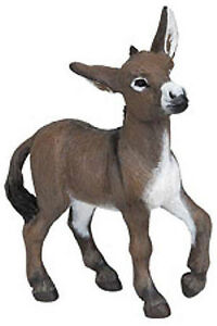 Papo-Donkey-Foal-Mule-Farm-Animal-Toy-Figure-Pretend-Play-51141-NEW