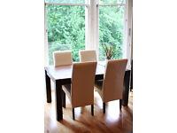 Solid hardwood table, seating 6/8 people