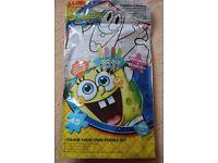 Spongebob colour your own jigsaw set