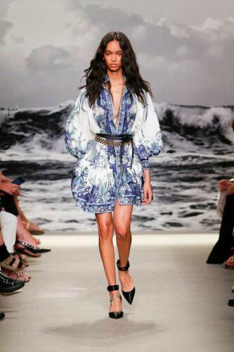 BNWT Zimmermann Glassy Placement Mini Dress Silk size 0