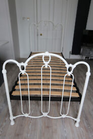 Metal single bed frame in immaculate condition