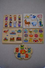 5 x Wooden Childrens Puzzles