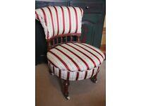 Victorian Magohany Nursing Chair