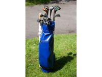 Set of Golf Clubs - Tanaka Investor Irons, Assorted Woods